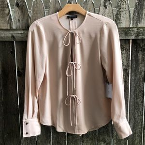 1.State Cameo Textured Chiffon Top